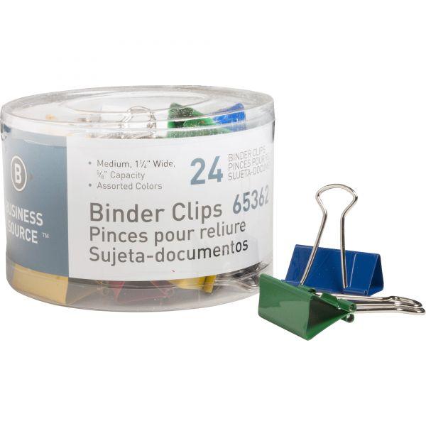 Business Source Medium Binder Clips