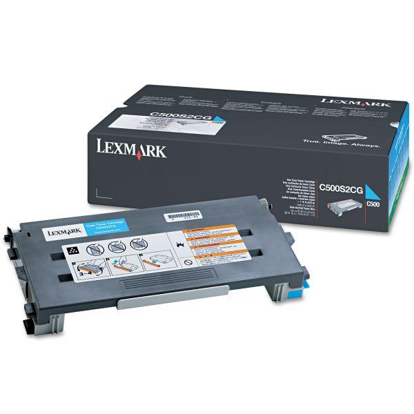 Lexmark C500S2CG Toner, 1500 Page-Yield, Cyan