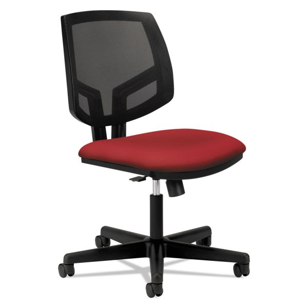 HON Volt Series Mesh Back Task Chair with Synchro-Tilt, Crimson Fabric