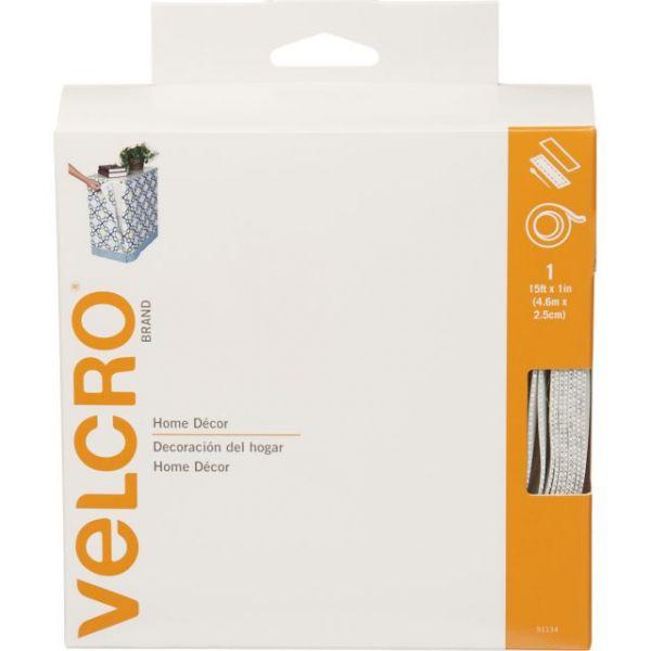 "VELCRO(R) Brand Home Decor Sew-On & Sticky Back Tape 1""X15'"