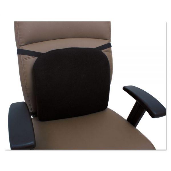 Alera Cooling Gel Memory Foam Backrest, 14 1/8 x 14 1/8 x 2 3/4, Black