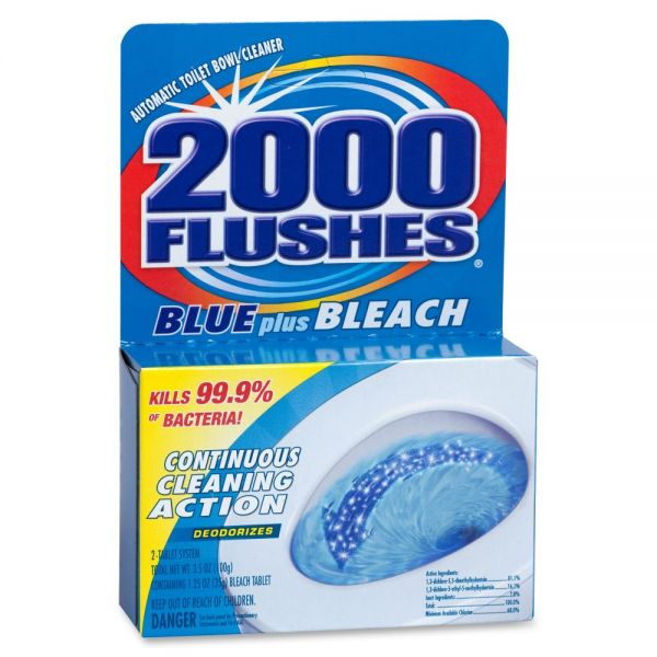 WD-40 2000 Flushes Blue/Bleach Bowl Cleaner Tablets