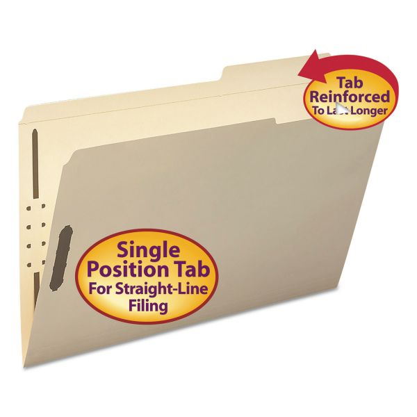 Smead Reinforced Tab Manila File Folders With Fasteners