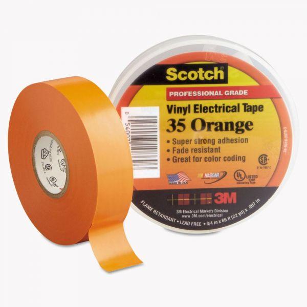 """3M Scotch 35 Vinyl Electrical Color Coding Tape, 3/4"""" x 66ft, Orange"""