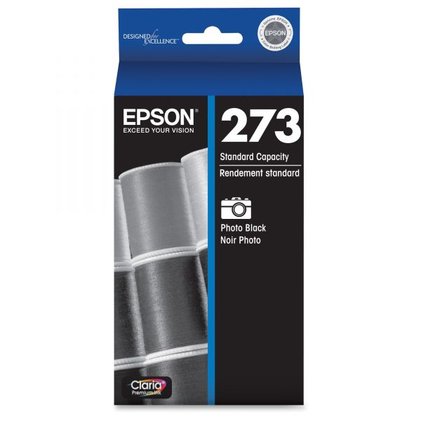 Epson T273120 (273) Claria Ink, Photo Black