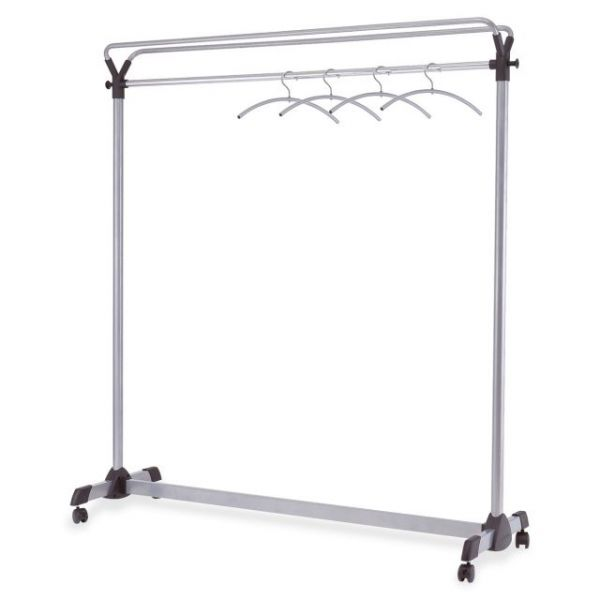 Alba Upper Shelf Mobile Coat Rack