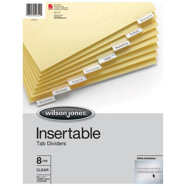Wilson Jones Insertable Tab Index Dividers