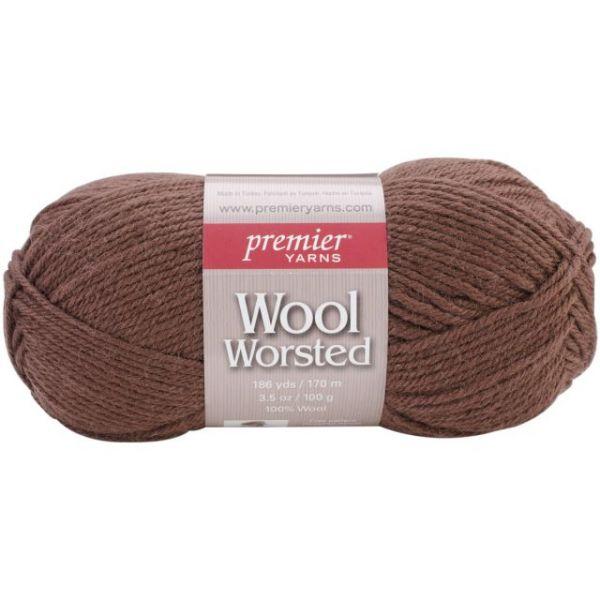 Premier Wool Worsted Yarn - Milk Chocolate