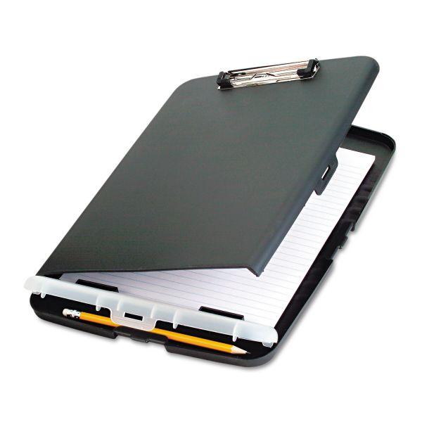 "Officemate Low Profile Storage Clipboard, 1/2"" Capacity, Holds 9w x 12h, Charcoal"