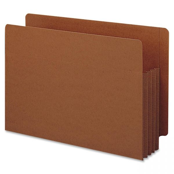 Smead TUFF Pocket Extra Wide End Tab File Pockets with Reinforced Tabs