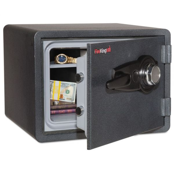 FireKing One Hour Fire and Water Safe with Combo Lock, 2.8 cu. ft., Graphite