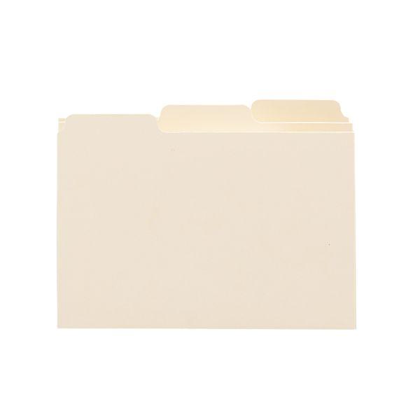 Smead Self-Tab Card Guides, Blank, 1/3 Tab, Manila, 4 x 6, 100 per Box