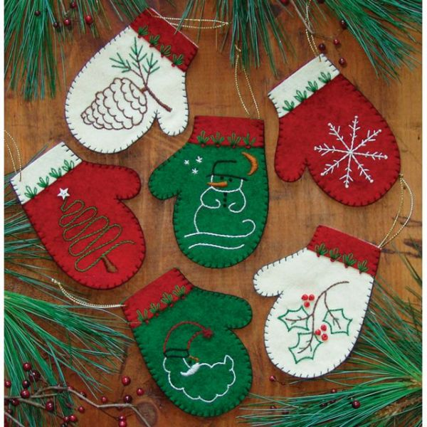 Mittens Ornament Kit 6/Pkg