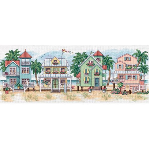 Dimensions Seaside Cottages Counted Cross Stitch Kit