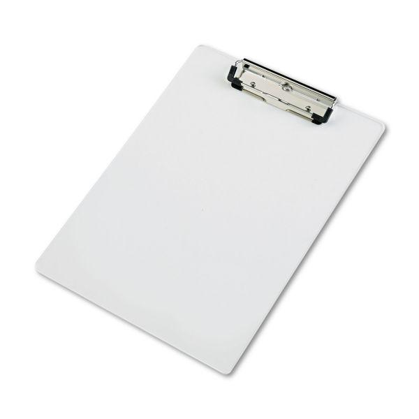 "Saunders Acrylic Clipboard, 1/2"" Capacity, Holds 8-1/2w x 12h, Clear"