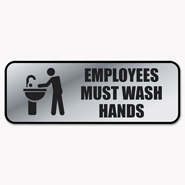"COSCO ""Employees Must Wash Hands"" Sign"