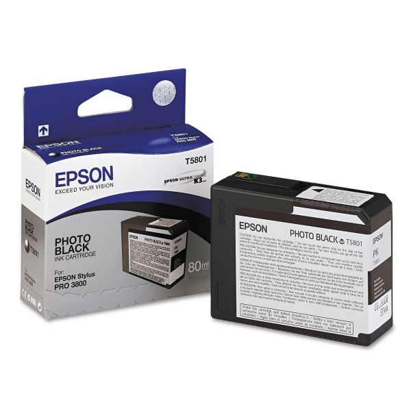 Epson T580100 UltraChrome K3 Ink, Photo Black