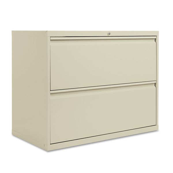 Alera Two-Drawer Lateral File Cabinet, 36w x 19-1/4d x 28-3/8h, Putty