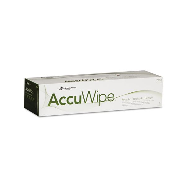 Georgia Pacific Professional AccuWipe Recycled One-Ply Delicate Task Wipers, 15 x 16 7/10, White, 140/Box