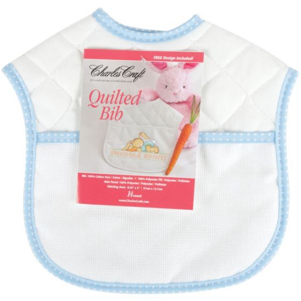 "Quilted Baby Bib 14 Count 9""X9"""