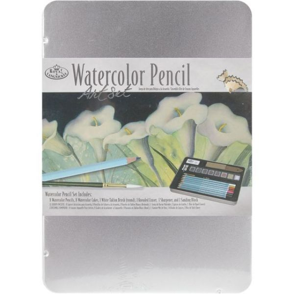 Watercolor Pencil Art Set W/Tin