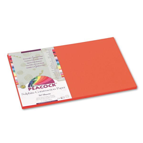 Peacock Sulphite Orange Construction Paper