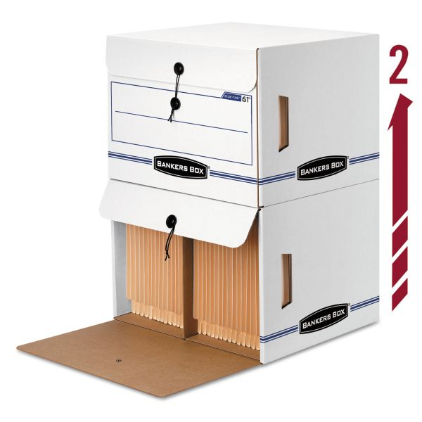 Bankers Box Side-Tab Drop-Front Storage Boxes