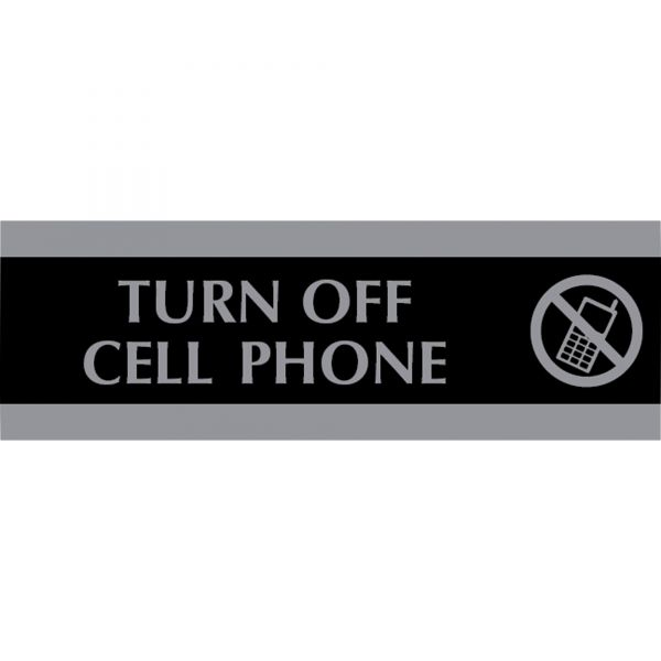 """U.S. Stamp & Sign """"Turn Off Cell Phone"""" Sign"""