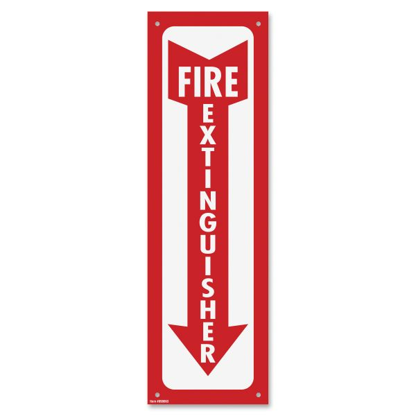 "COSCO ""Fire Extinguisher"" Safety Sign"