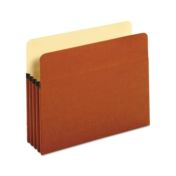 Universal 3 1/2 Inch Expansion File Pockets, Straight Tab, Letter, Redrope/Manila, 25/Box