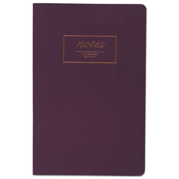 Cambridge Fashion Casebound Business Notebook, 8 1/2 x 5 1/2, Purple, 80 Sheets