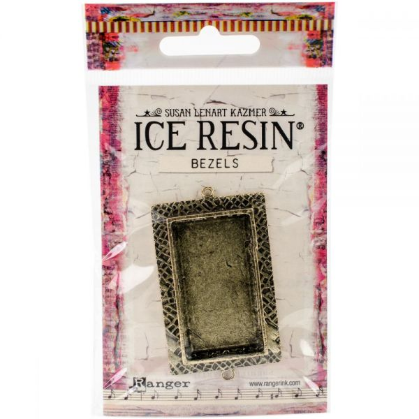 Ice Resin Milan Bezels Closed Back Rectangle Large