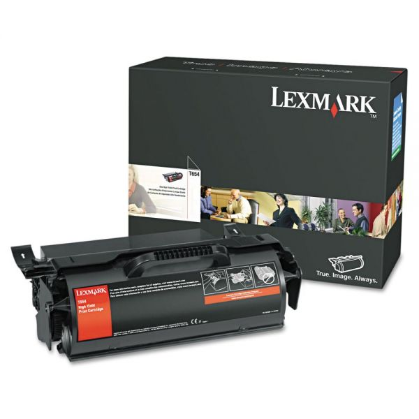 Lexmark T654X21A Extra High-Yield Toner, 36000 Page-Yield, Black