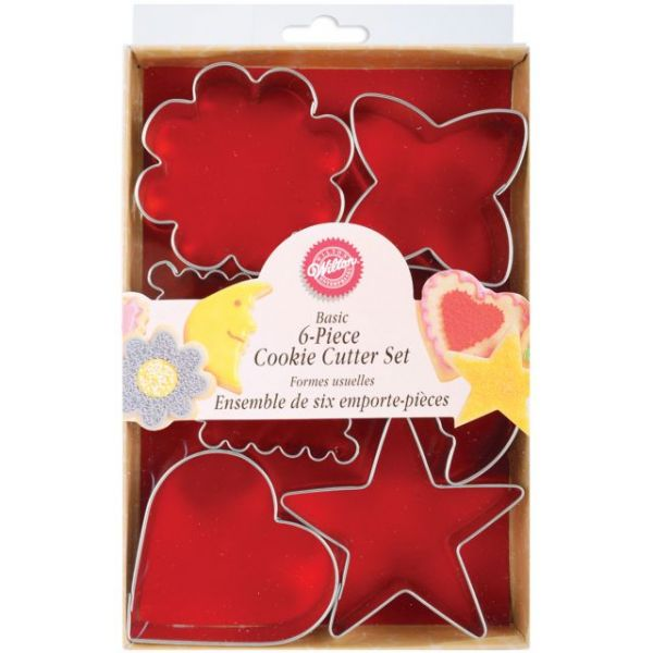 Metal Cookie Cutter Set 6/Pkg