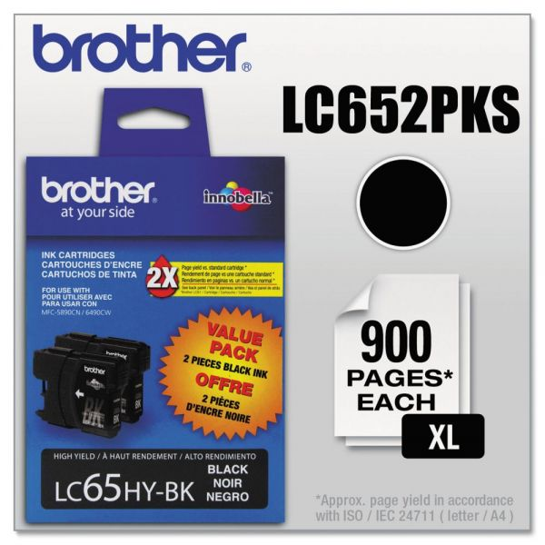 Brother LC652PKS Black High Yield Ink Cartridges