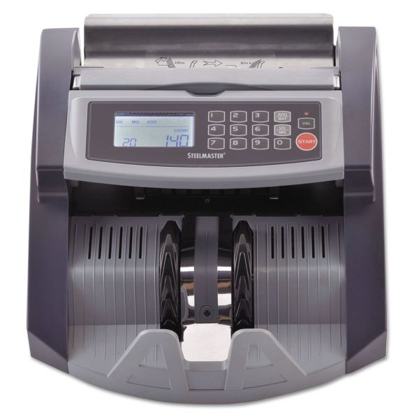 SteelMaster Currency Counter with UV/MG Counterfeit Bill Detection