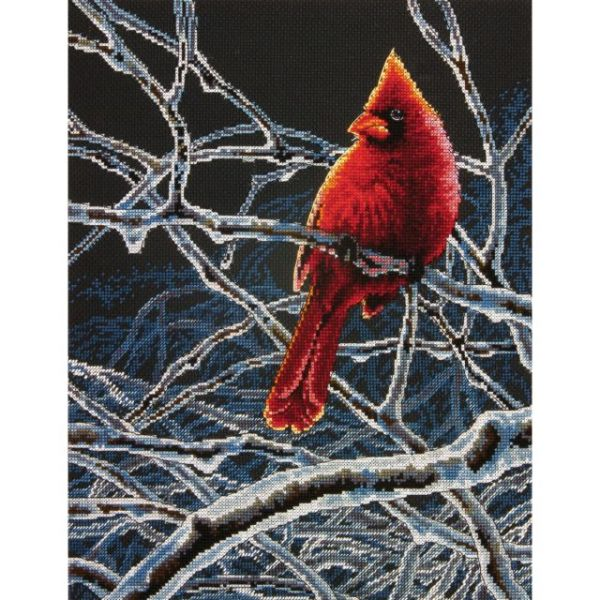Dimensions Ice Cardinal Counted Cross Stitch Kit