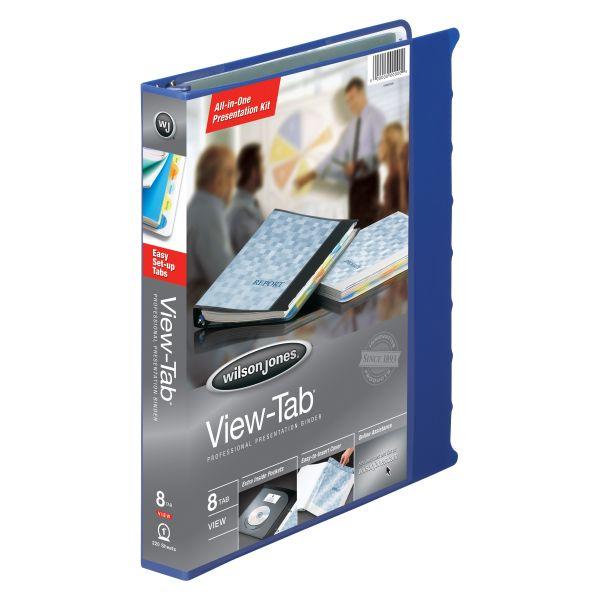 "Wilson Jones View-Tab 1"" 3-Ring Presentation Binder"