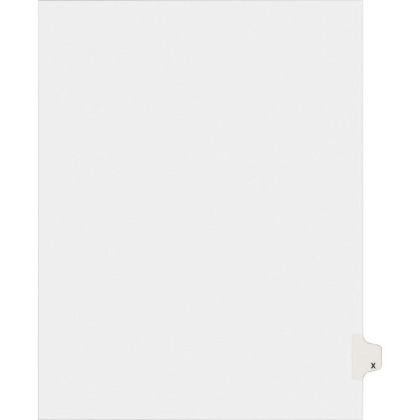 Avery Allstate-Style Legal Exhibit Side Tab Divider, Title: X, Letter, White, 25/Pack