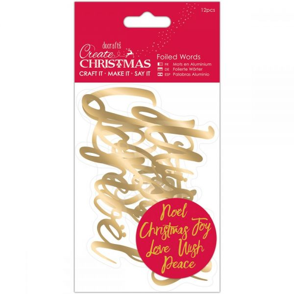 Papermania Create Christmas Foiled Words Stickers