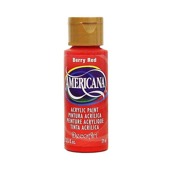 Deco Art Americana Berry Red Acrylic Paint