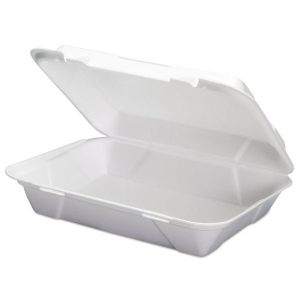 Genpak Foam Hoagie Hinged Container, White, 9 3/4 x 3 2/5 x 13,  200/CT, 100/Bag, 2/CT