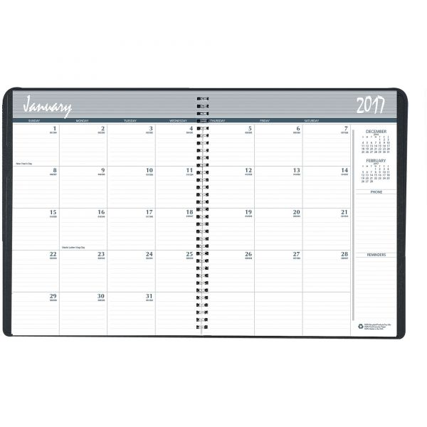 House of Doolittle 24-Month Ruled Monthly Planner, 8-1/2 x 11, Black