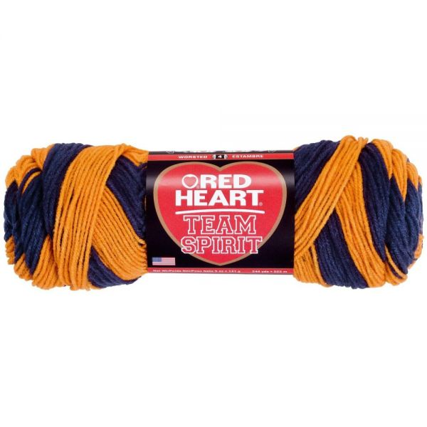 Red Heart Team Spirit Yarn - Orange/Navy