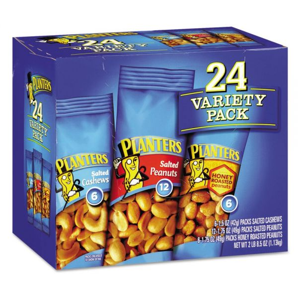 Planters Peanuts & Cashews Variety Pack