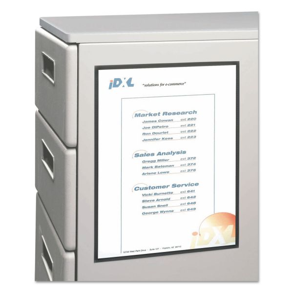 C-Line Magnetic Cubicle Keepers Display Holders, 8 1/2w x 11h, Clear, 2 per Pack