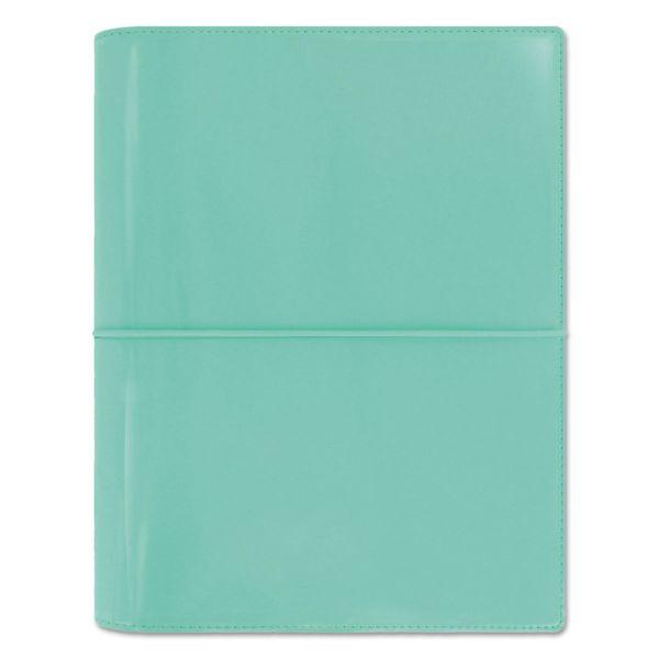 Filofax Domino Patent A5 Organizer, 8 1/4 x 5 3/4, Turquoise