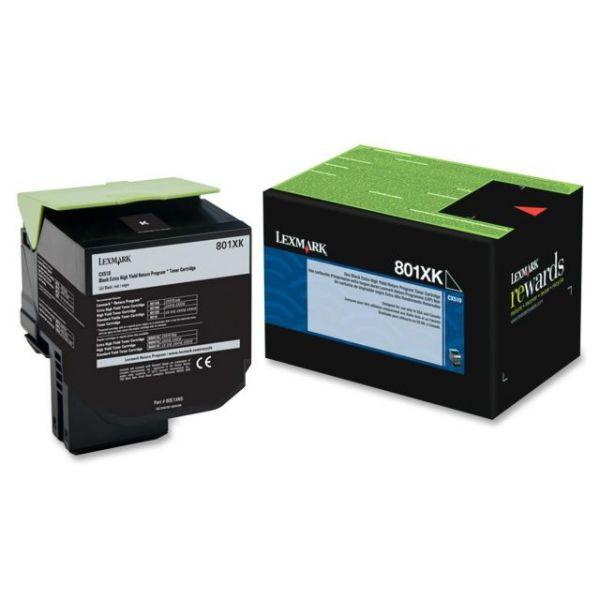 Lexmark 801XK Black Extra High Yield Return Program Toner Cartridge (80C1XK0)