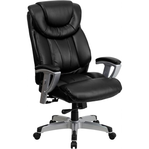 Flash Furniture Big & Tall Executive Swivel Office Chair [GO-1534-BK-LEA-GG]