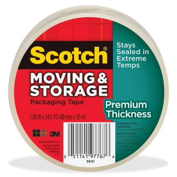 Scotch Premium Thickness Moving & Storage Packaging Tape